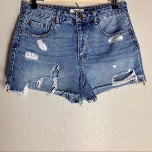 Forever 21 distressed ripped jean shorts sz 27
